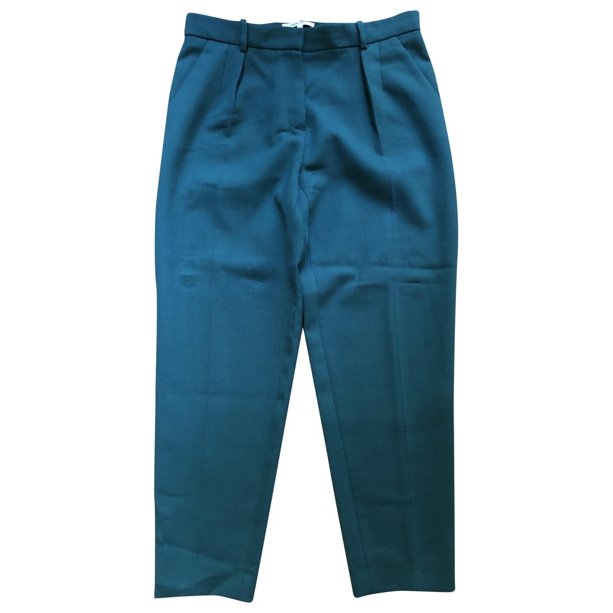 Carven \N Green Wool Trousers for Women 42 FR