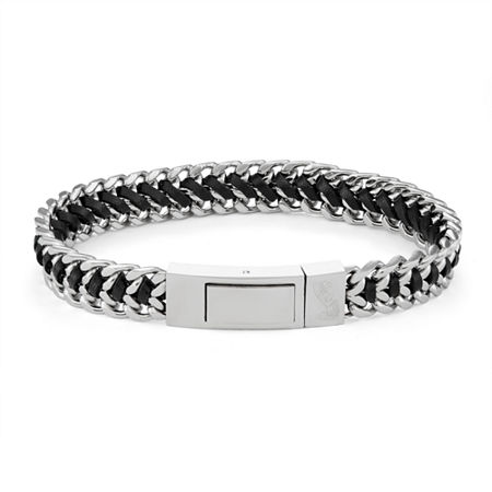 Stainless Steel 9 Inch Link Link Bracelet, One Size , No Color Family