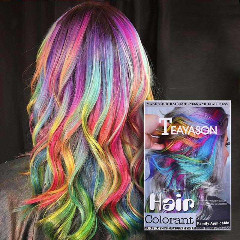 Highlights Hair Colorant Cream Hair Dye Dioxygen Milk DIY Hair Coloring 5Colors Cover Hair Easy Coloring Cream