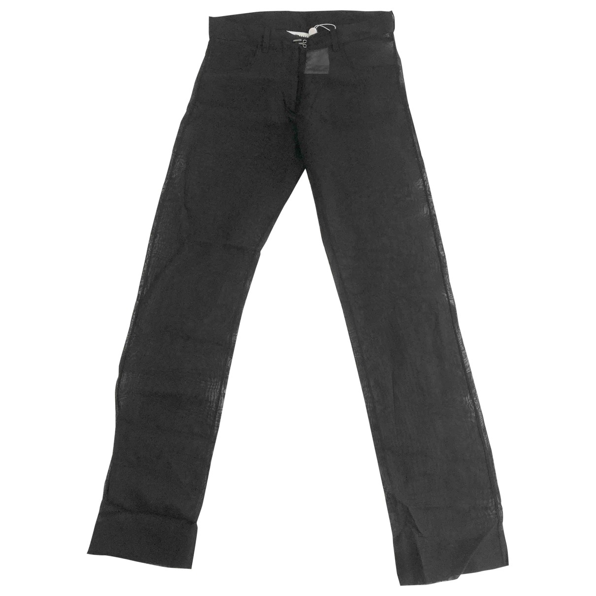Maison Martin Margiela \N Black Cotton Trousers for Women M International