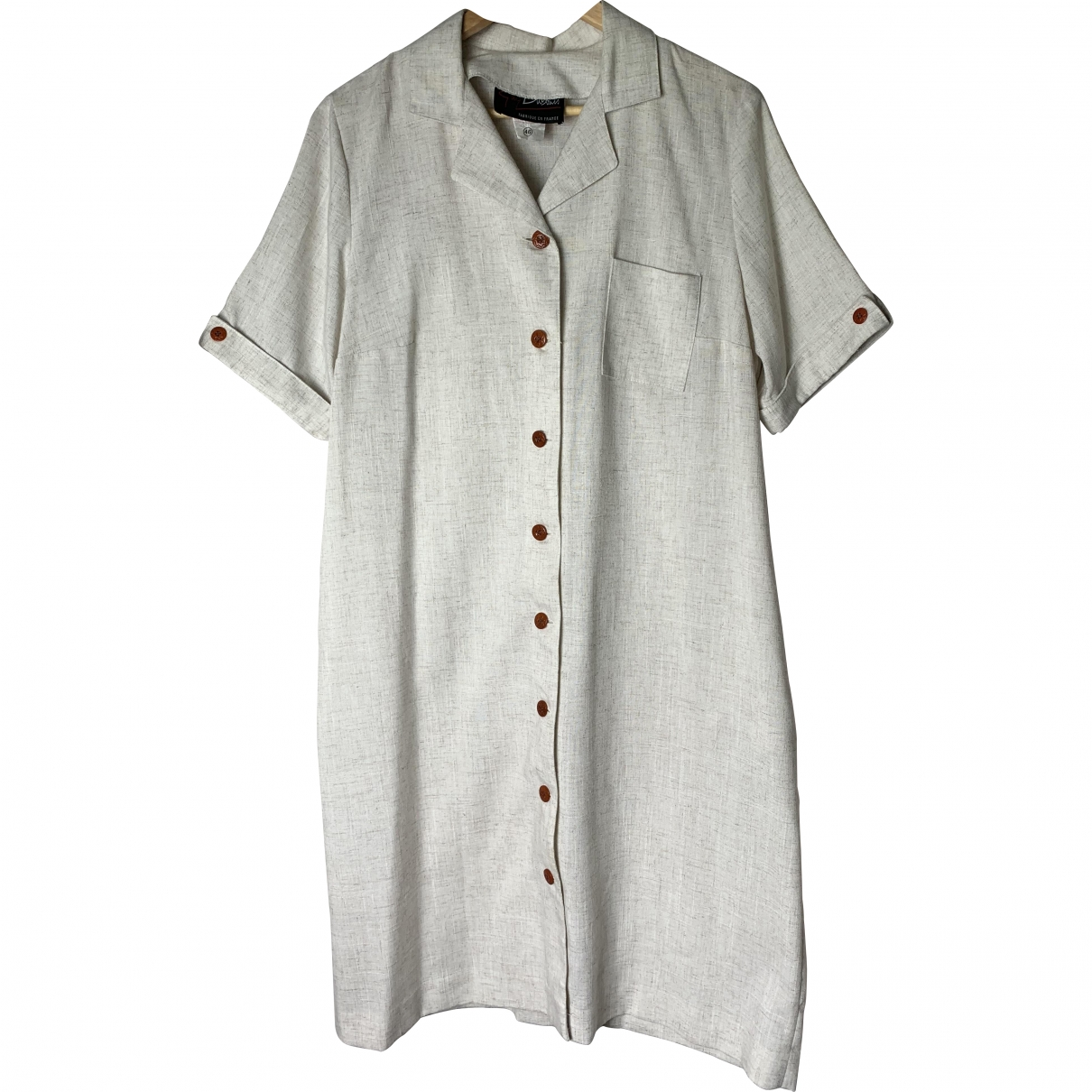 Non Signé / Unsigned \N Grey Wool dress for Women 46 FR