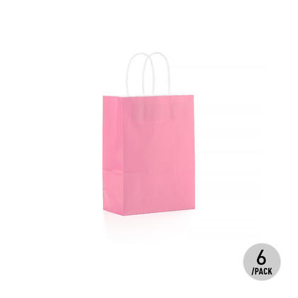Sac cadeau en papier Kraft - Petit 6Pcs Pink LivingBasics™