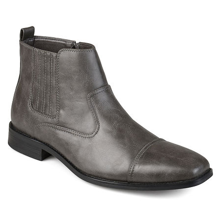 Vance Co Mens Alex Dress Boots Block Heel, 13 Medium, Gray