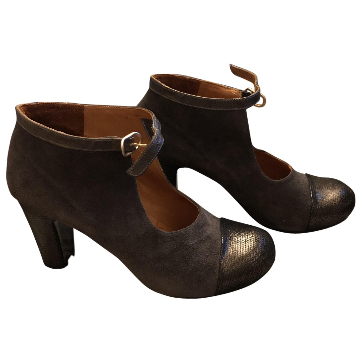 Chie Mihara \N Anthracite Leather Heels for Women 38 EU