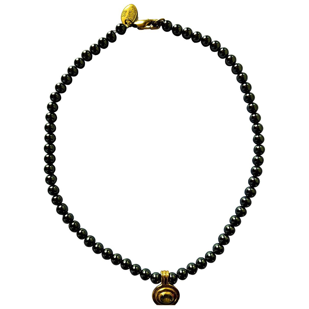 Non Signé / Unsigned \N Black Pearls necklace for Women \N