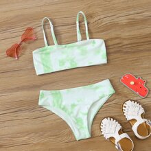 Girls Tie Dye Bikini Swimsuit