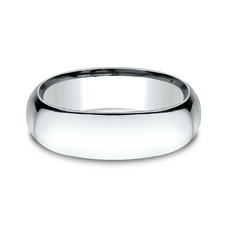 Mens 14K White Gold 7MM Light Comfort-Fit Wedding Band, 14 1/2 , No Color Family