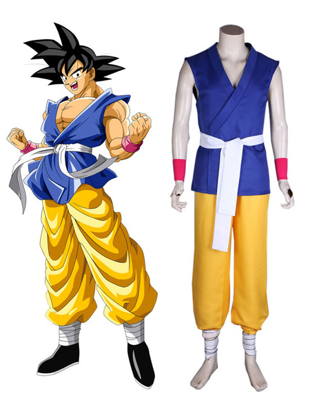 Milanoo DragonBallGT Cosplay Costume Kid Son Goku Kakarotto Outfit Anime Cosplay Costume