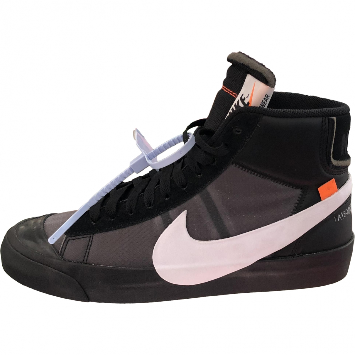 Nike X Off-white Blazer Mid Black Leather Trainers for Men 8 US