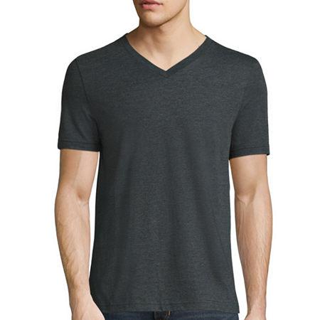 Arizona Super Soft Mens V Neck Short Sleeve T-Shirt, Xx-large , Gray