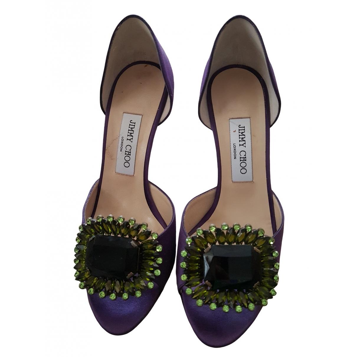 Jimmy Choo \N Purple Cloth Heels for Women 38.5 EU