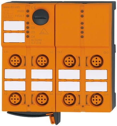 ifm electronic PLC I/O Module - 4 Inputs, 4 Outputs, 18 → 30 V dc