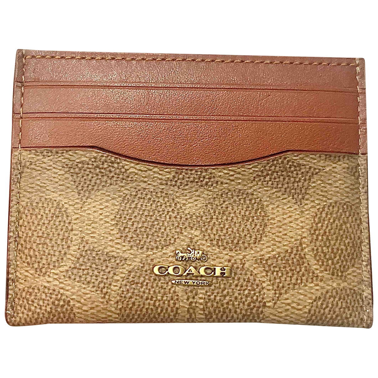 Coach Cartable mini sierra Brown Leather wallet for Women \N