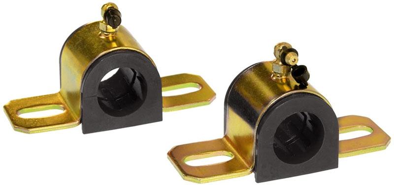 Prothane 19-1216-BL Universal 90 Deg Greasable Sway Bar Bushings - 28MM - Type B Bracket - Black