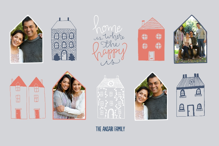 Family + Friends 24x36 Poster , Home Décor -Happy Homes