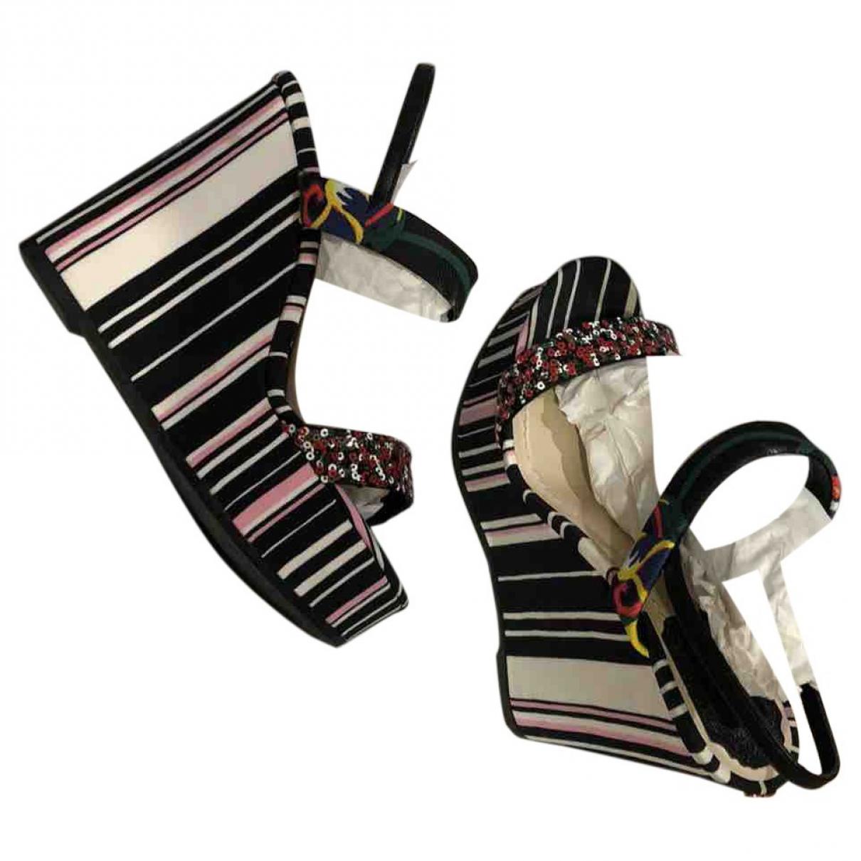 Dior \N Black Cloth Sandals for Women 37 EU