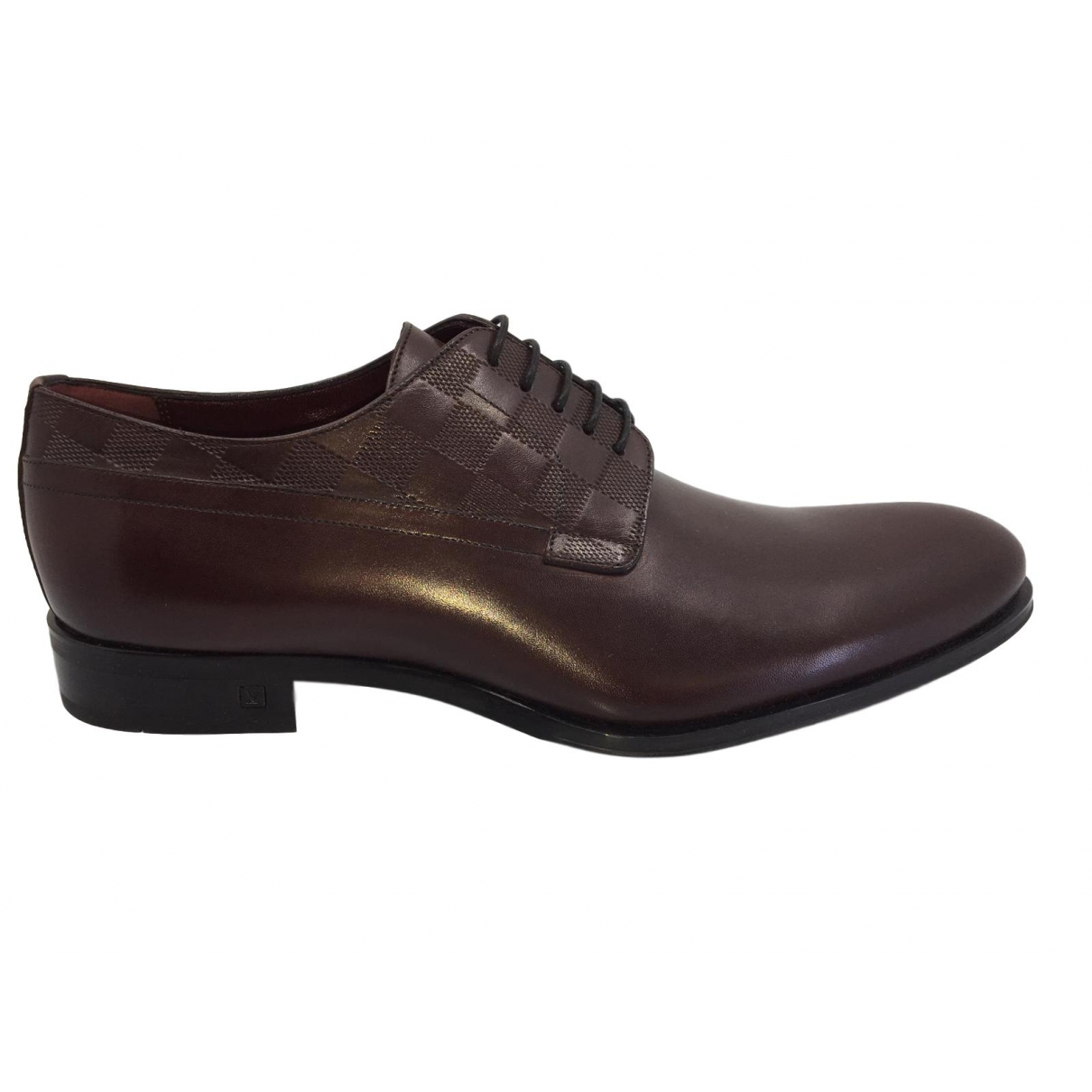 Louis Vuitton \N Burgundy Leather Lace ups for Men 7 UK