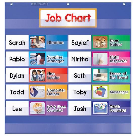 Scholastic® Class Jobs Pocket Chart With Cards | Michaels®