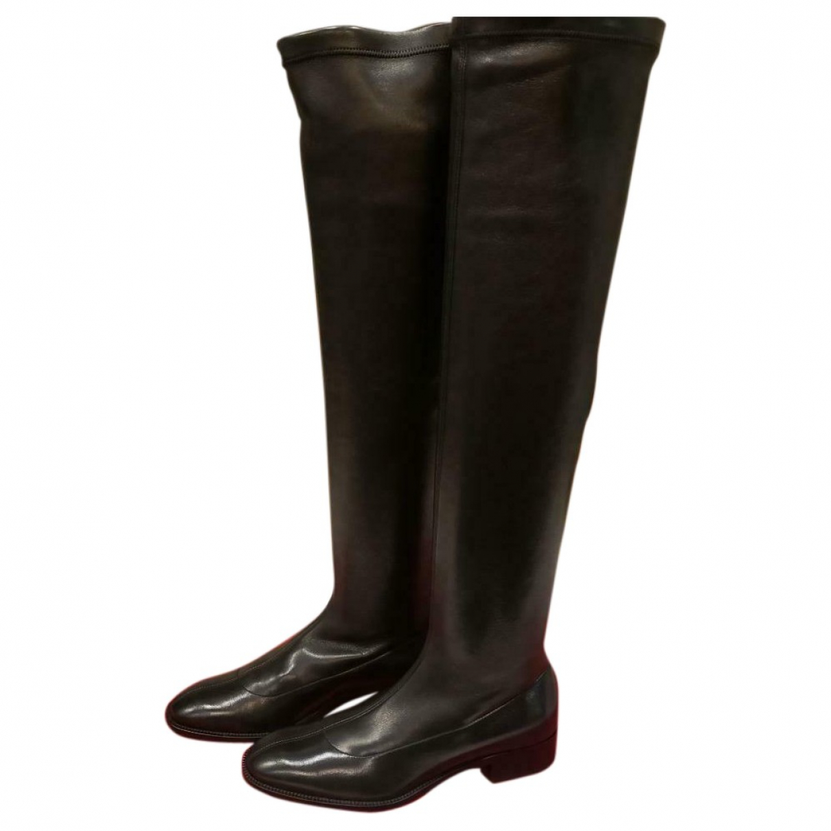 Christian Louboutin \N Black Leather Boots for Women 39.5 EU