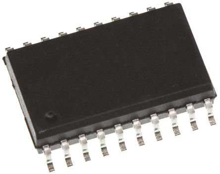 ON Semiconductor MM74HC540WM, Octal-Channel Inverting 3-State Buffer, 20-Pin SOIC (36)