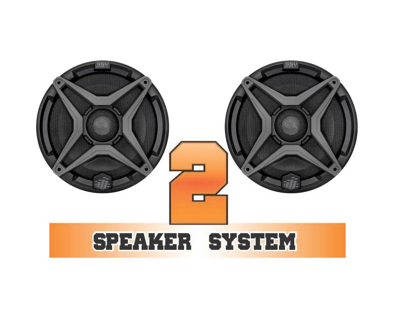 SSV Works COMMANDER-2 Complete 2 Speaker System Can-Am Commander DPS 1000 2013