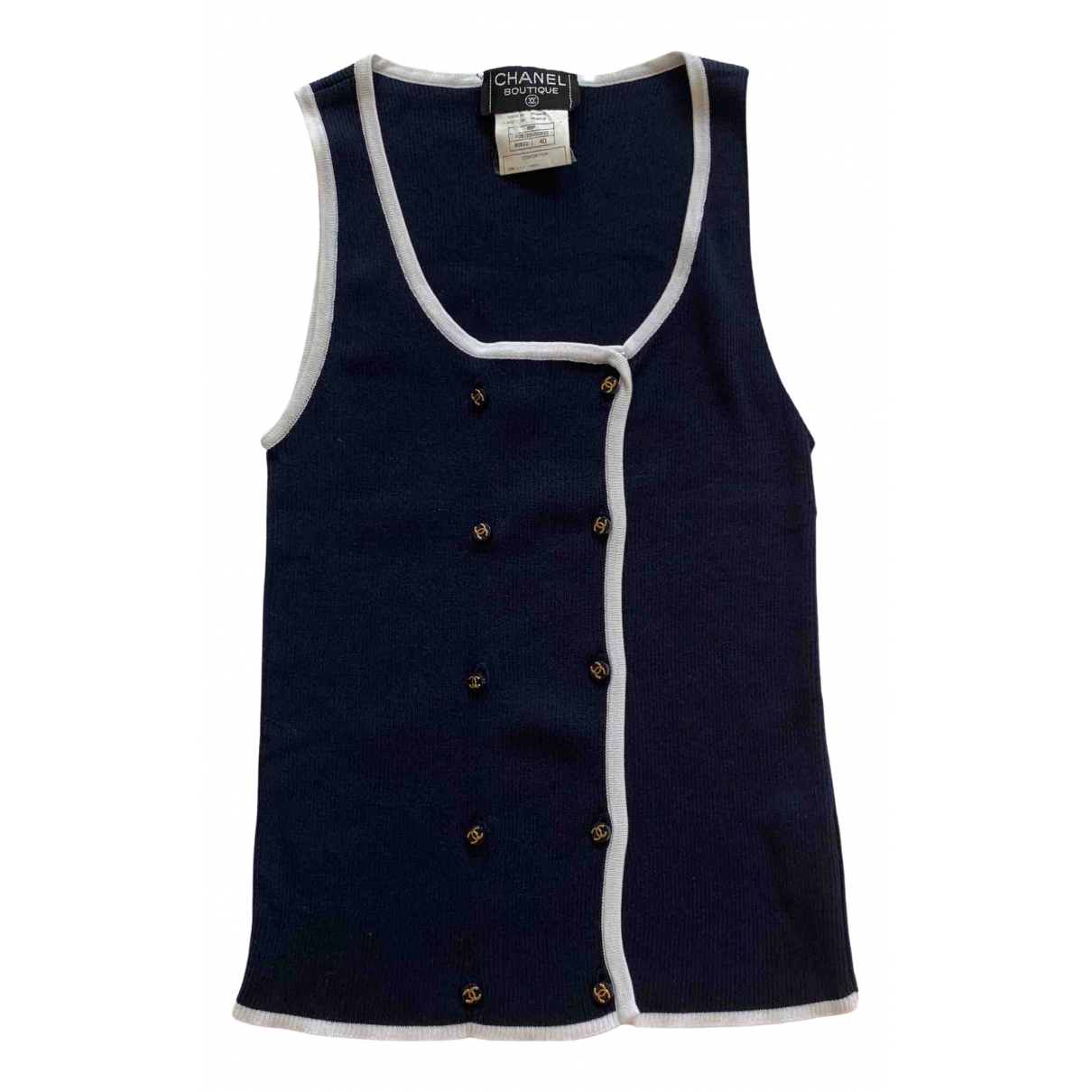 Chanel \N Navy Cotton  top for Women 40 FR