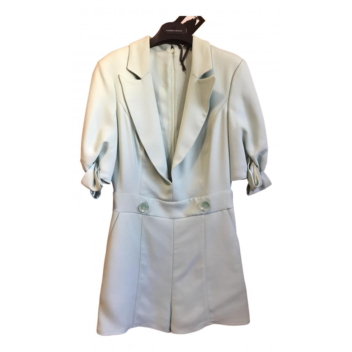 Elisabetta Franchi \N Turquoise jumpsuit for Women 42 IT