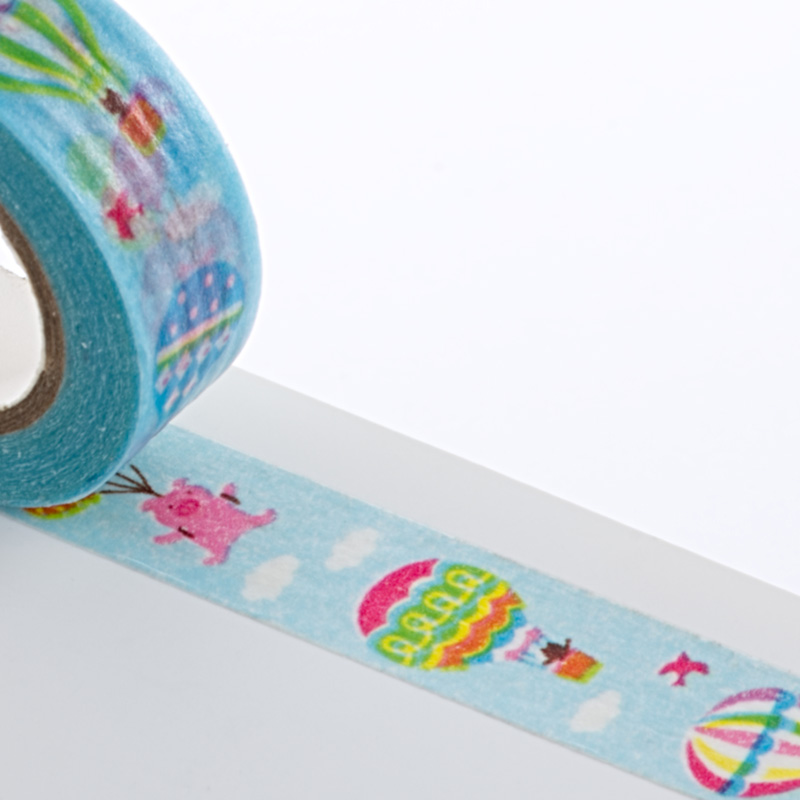 Colored 9/16 X 10 Yards Hot Air Balloon Washi Tape by Ribbons.com