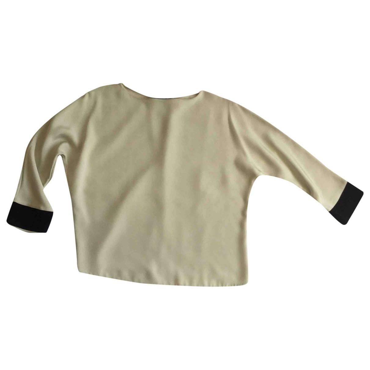Etro \N Ecru Silk  top for Women 42 IT