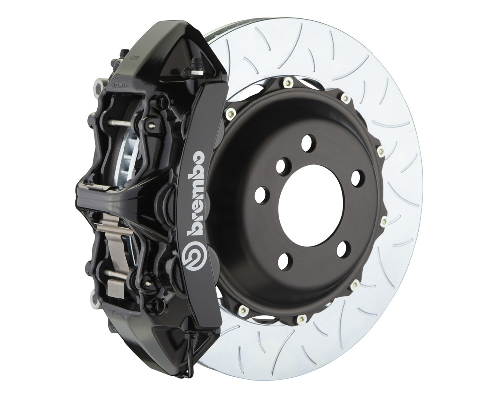 Brembo GT 355x32 2-Piece 6 Piston Black Slotted Type-3 Front Big Brake Kit