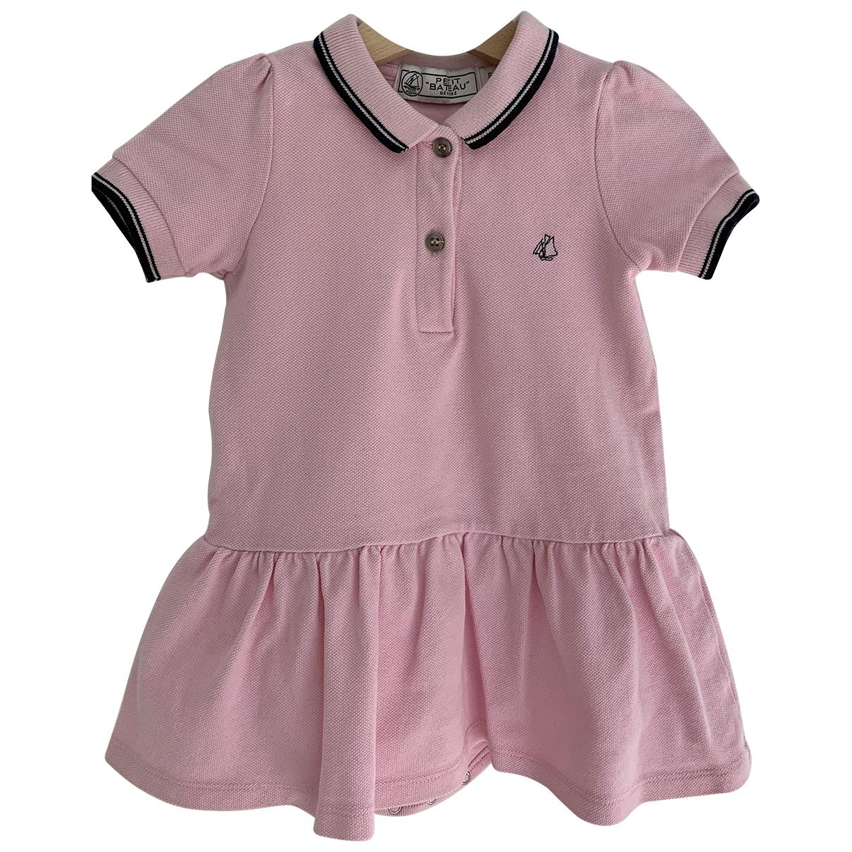 Petit Bateau \N Pink Cotton dress for Kids 18 months - up to 81cm FR