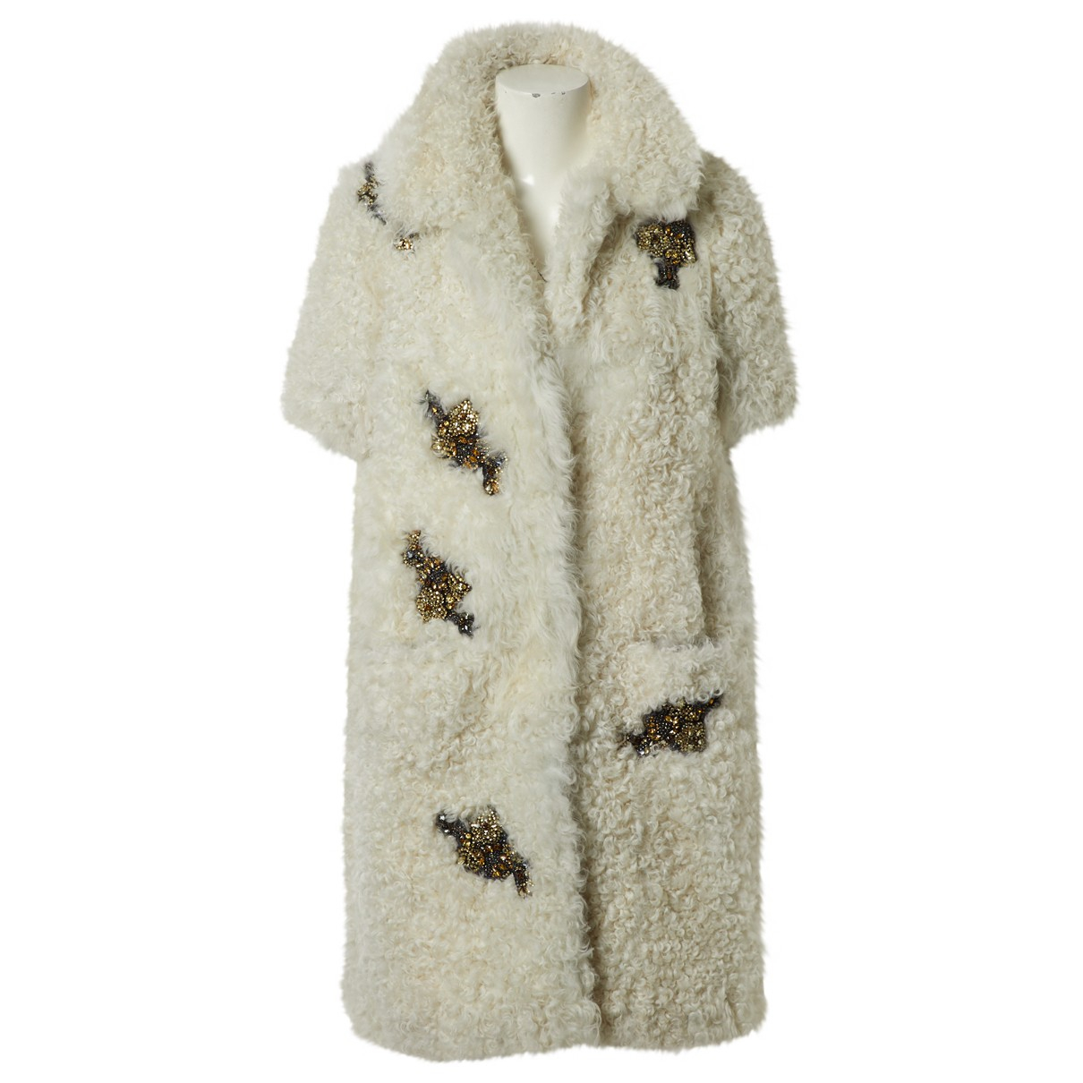 Erdem \N Ecru Shearling coat for Women 12 UK