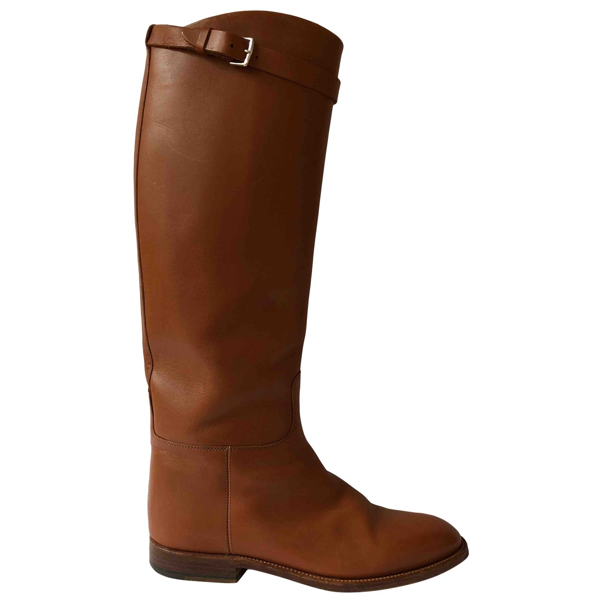 Hermès Jumping Beige Leather Boots for Women 38.5 EU