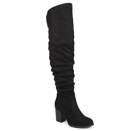Journee Collection Womens Kaison-Xwc Dress Boots Stacked Heel, 7 Medium, Black