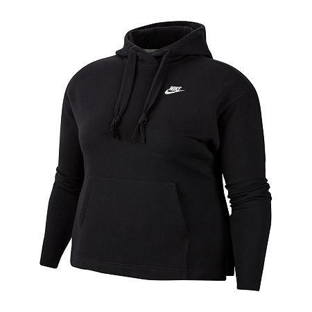 Nike Womens Hooded Neck Long Sleeve Hoodie, X-large , Black