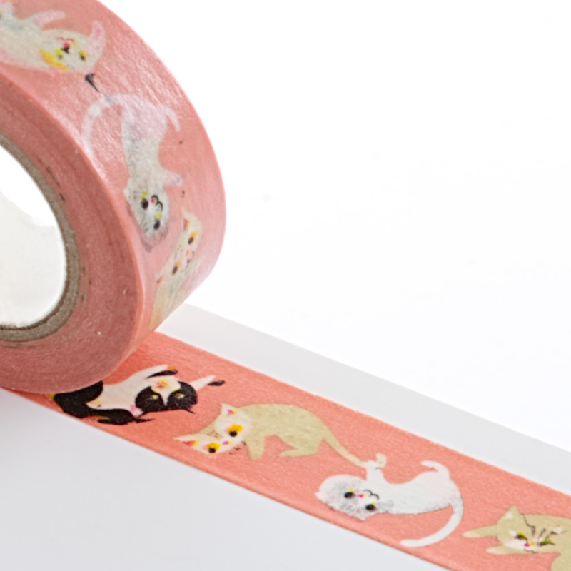 Colored 9/16 X 10 Yards Cats Washi Tape by Ribbons.com