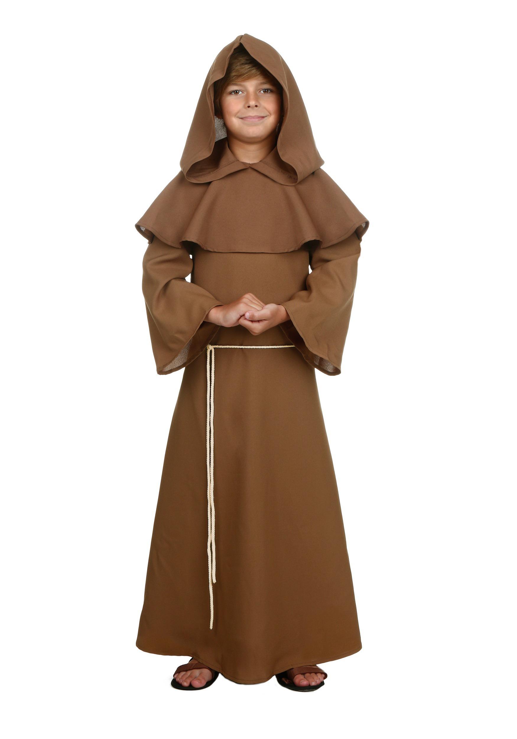 Child Brown Monk Robe Costume