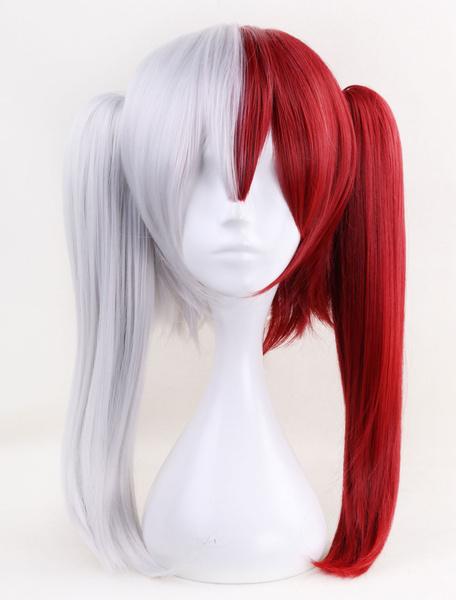 Milanoo Boku No Hero Academia Shoto Todoroki Girl Version BNHA Halloween Cosplay Wig