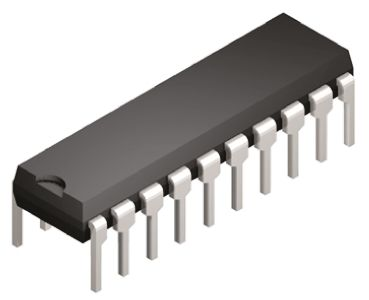Texas Instruments CD74FCT244E Octal-Channel Buffer & Line Driver, 3-State, 20-Pin PDIP (5)