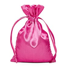 Hot Pink Satin Pouch - 4 X 6 - Silk - Quantity: 30 - Fabric Bags by Paper Mart