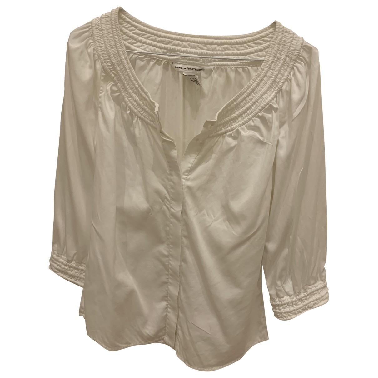 Diane Von Furstenberg \N White Cotton  top for Women 2 US