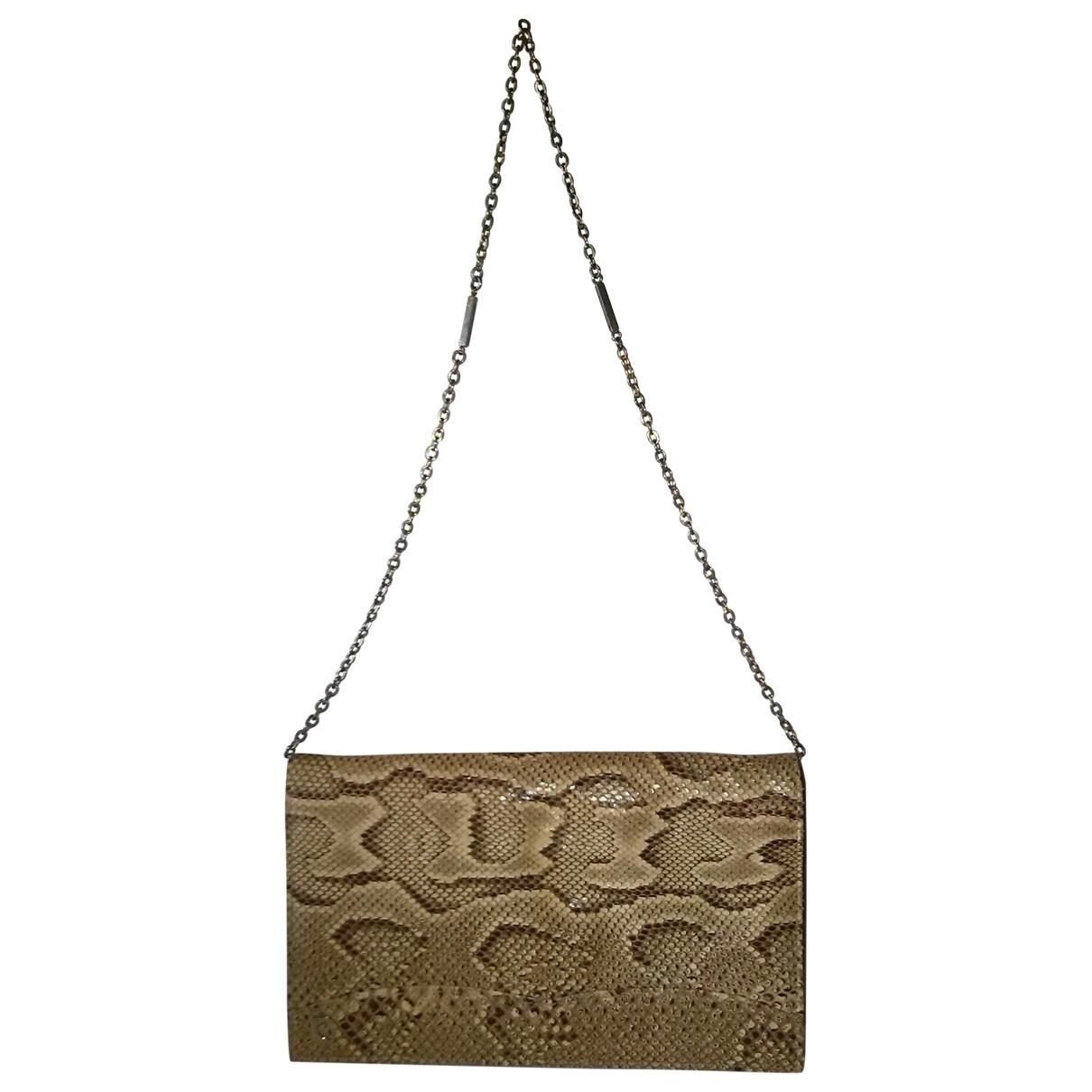 Pierre Cardin \N Brown Python Clutch bag for Women \N
