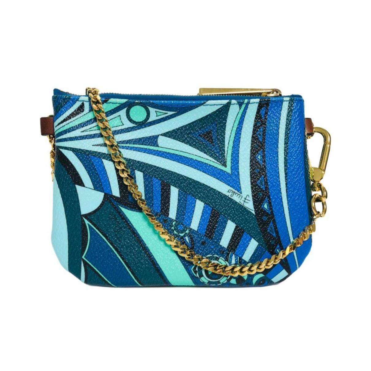 Emilio Pucci \N Blue Leather Clutch bag for Women \N