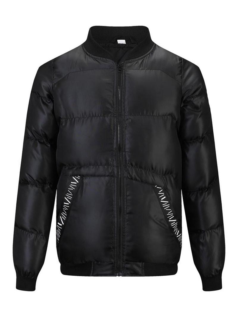 Ericdress Patchwork Standard Collar Zipper European Down Jacket