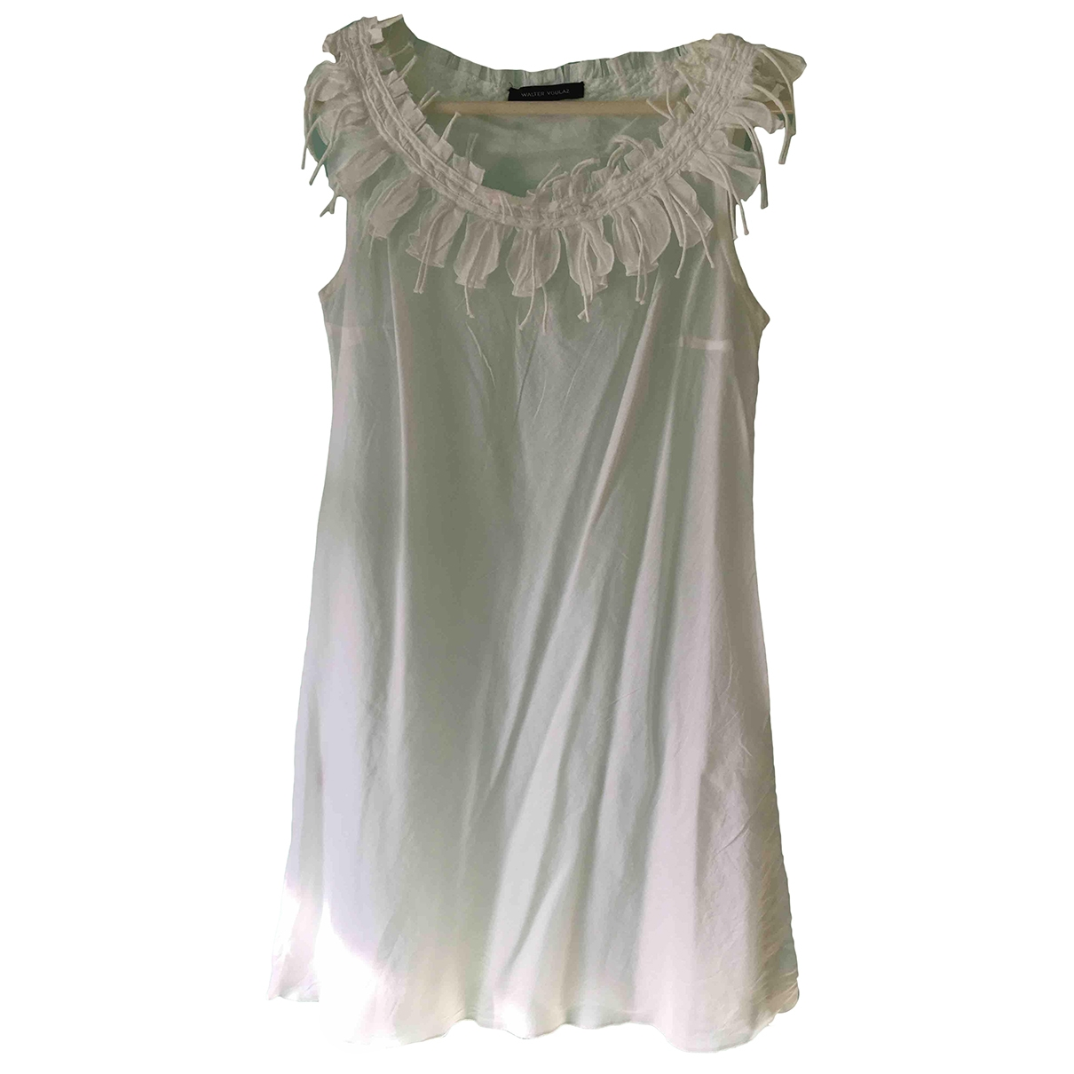 Non Signé / Unsigned \N White Cotton  top for Women 42 IT