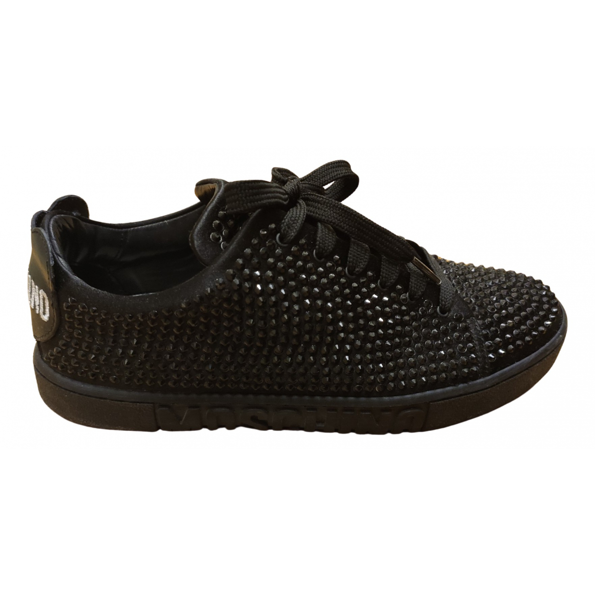 Moschino \N Black Glitter Trainers for Women 38 IT