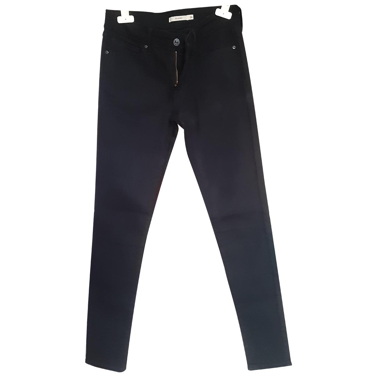 Levi's N Black Cotton - elasthane Jeans for Women 26 US