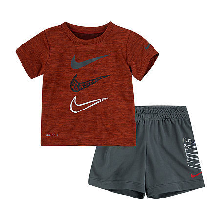 Nike Baby Boys 2-pc. Short Set, 24 Months , Gray
