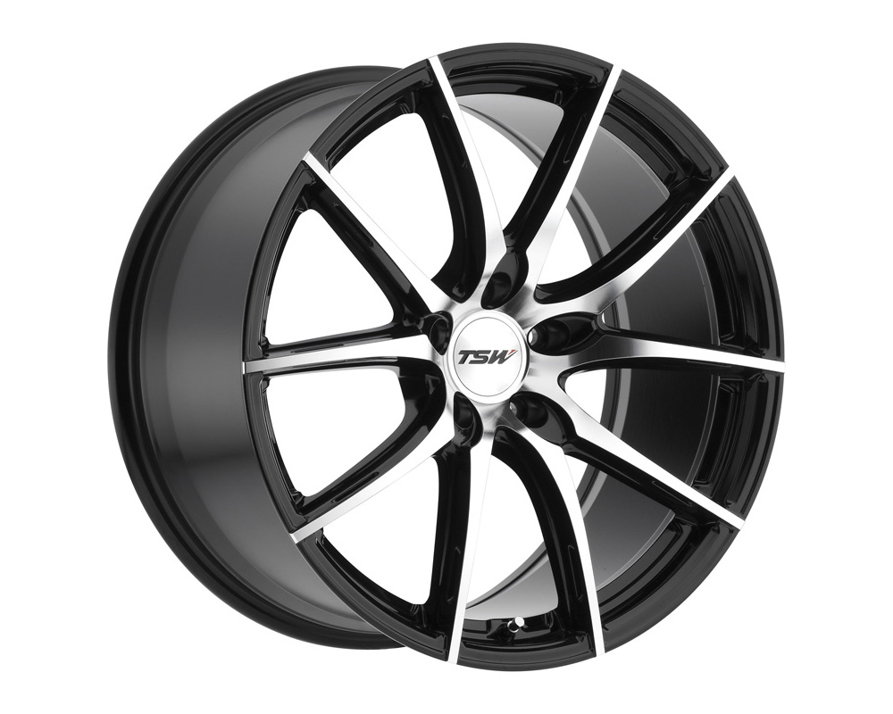 TSW Sprint Wheel 18x8.5 5x108 40mm Gloss Black w/ Mirror Cut Face