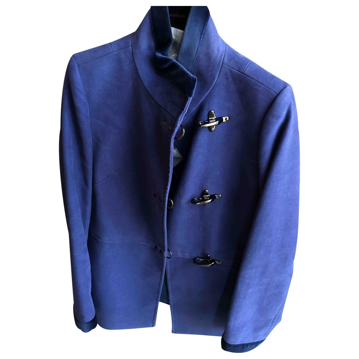 Fay \N Blue Suede jacket for Women 42 IT
